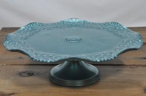 Aqua Cake Plate