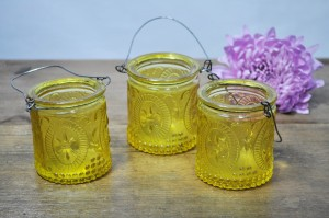 Hanging Yellow Jars
