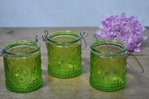 Hanging Green Jars