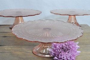 Pink Cake Plate